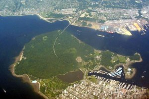 Stanley Park vue de haut