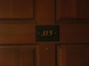 L'agent Cooper logeait dans la chambre 315, nous étions dans la chambre 310