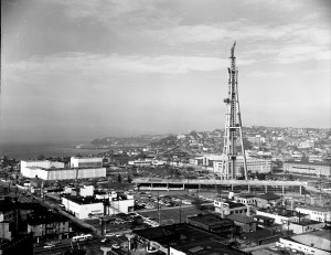 Construction de la Space Needle