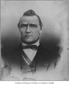 """""""Doc"""" Maynard, docteur, prince marchand, avocat, juge de paix et architecte du traite de Point Elliott en 1855."""